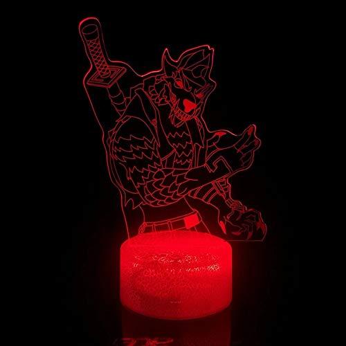 Juego único serie de escape creativo acrílico multicolor luz led luz nocturna...