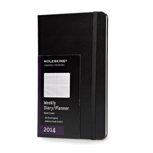 2014 Moleskine Large Diary Weekly Vertical Hard (Moleskine Diaries)