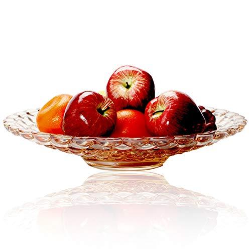 Assiettes À Fruits Corbeilles À Fruits Porte-fruits Plateau Perle De Verre Trempé Design Crystal Craft Haute Capacité (Couleur : Ambre)