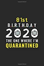 81st Birthday 2020 The One Where I'm Quarantined: Funny 81 Years Old Birthday Gift In Quarantine, Lockdown And Social Distancing, Self Isolation | ... Men, Kid, Teen ( Birthday Alternative Card )