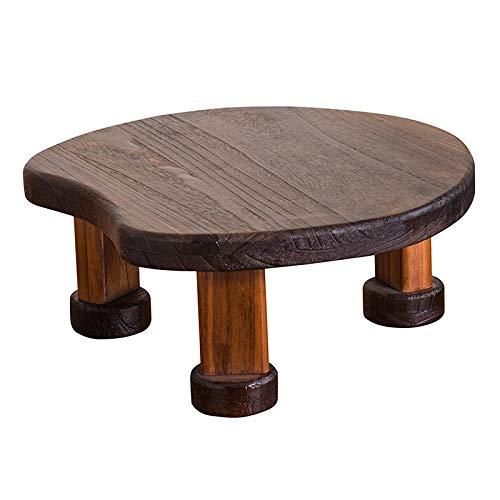 Couchtische New Chinese Massivholz Erker Fenstertisch Kleinen Runden Tisch Tatami Kleinen Teetisch Kang Tisch Sitzen Niedrigen Tisch Fensterbank Tisch (Color : Brown, Size : 50 * 21cm)