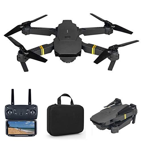 YAHCQ Drohne Mit Kamera, Drohne Für Anfänger, 1080P HD Faltbar RC Quadcopter Mit FPV WLAN Live Übertragung, Kopfloser Modus, 3D Flip, Flugbahnflug, Notlandung, APP Fernbedienung,4k Camera