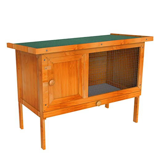 """Nurxiovo 36"""" Outdoor Chicken coop Wooden Bunny Rabbit Hutch House with Pull Out Tray Single Deck & Ventilation Door, Waterproof Hen House Pet Poultry Cage Garden Backyard Animal Nesting Box"""