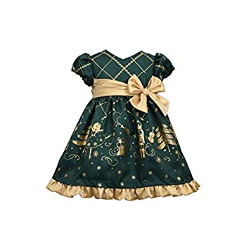 Bonnie Jean Christmas Dress - Green Nutcracker for Baby Toddler and Little Girls 6