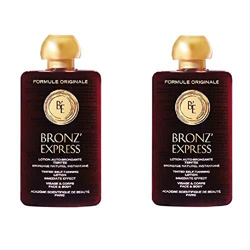 2x Bronz Express Lotion - getönte Selbstbräunungs- Lotion für Gesicht & Körper