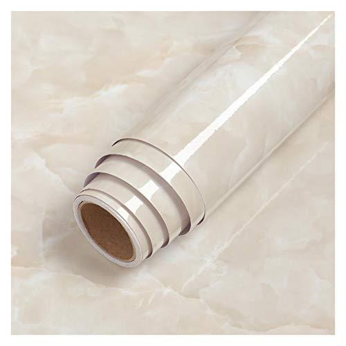 YEYU BH Papel de contacto de PVC resistente al agua, autoadhesivo, papel de vinilo, película decorativa para encimera, muebles de cocina, adhesivo negro (color: jade blanco, tamaño: 40 cm x 1 m)