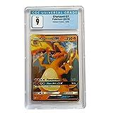CGC 9 Pokemon Charizard GX 9/68 Non Holo Hidden Fates + Extra Protection Near Mint (Toploader) 2019