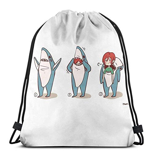 N / A Free Rin Matsuoka Superbowl Shark,Draw Cord Bag,Yoga Sack,Women Men Lightweight Gymsack,String Pull Bag,Storage Bag,Party Favor Bags,Drawstring Backpack