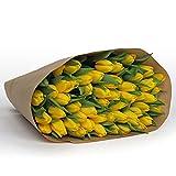 50 Tulpen in Gelb l Wunderschöner Strauß holländische Tulpen l Frische Blumen bestellen l Echter Blumenstrauß