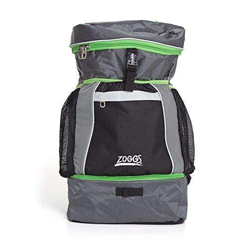 Zoggs Triathlon Tasche, Black/Grey/Green, M