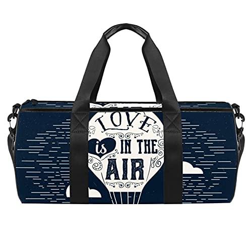 Bolsa de viaje azul marino para hombres y mujeres, bolsa de viaje con bolsillo impermeable