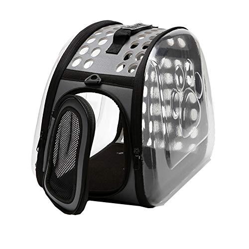 Aida Bz Pliage Transparent Sac d'espace Chat Chien Universel Pratique Style Pet Fournitures Pet Out Portable Sac à Dos Transparent,A,M