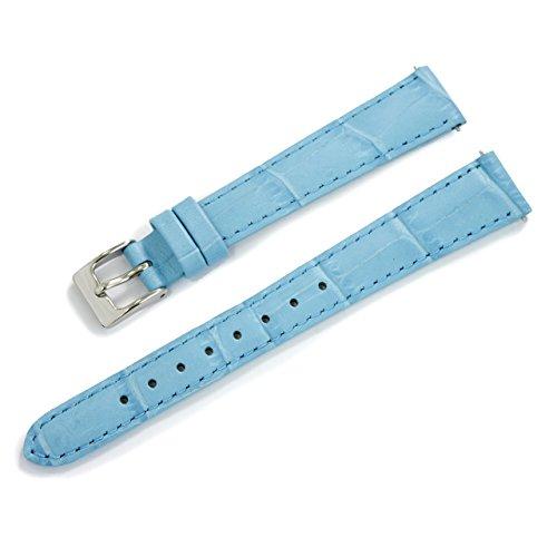 CASSIS[カシス] カーフ 型押し 時計ベルト 裏面防水素材 AVALLON アバロン 13mm パステルブルー 交換用工具付き X1022238168013M