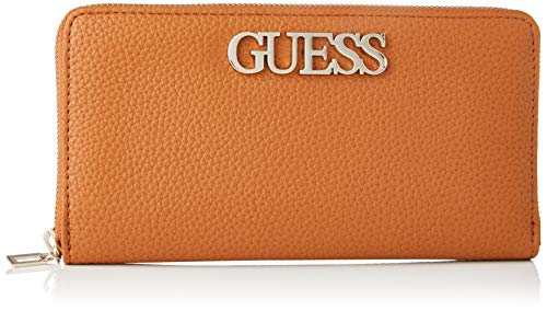 Guess Uptown Chic SLG Cheque ORGNZR, Small Leather Goods Donna, Cognac, Taglia unica