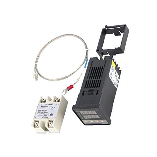 xiaocheng Digital PID Temperature Controller REX-C100 PID Temp Control Set K Thermocouple Probe Cable Furniture Hardware