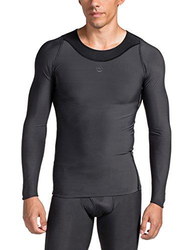 SKINS Maillot Longues Manches rY400 Top t-Shirt à Manches Longues pour Homme XS/S/M/L/XL/XXL Gris - Gris