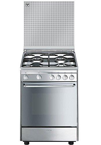Smeg CX6SV9 Cucina Piano Cottura Acciaio Inossidabile Gas A