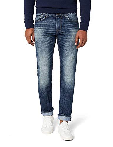 TOM TAILOR Herren Marvin Straight Jeans, Mid Stone Wash Denim 1052, 34W / 34L