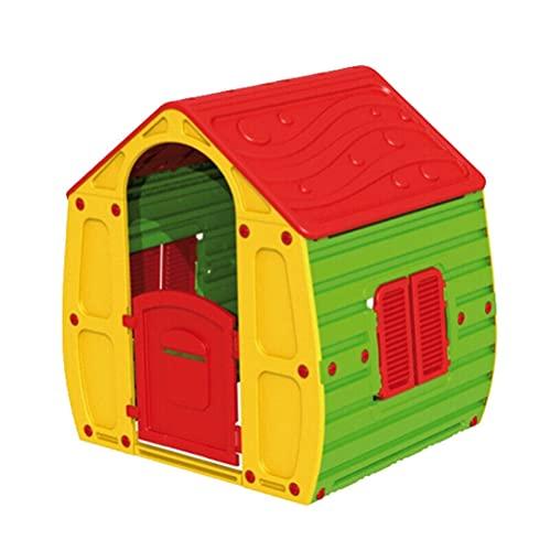 Vet Italy Vetrineinrete Casetta per Bambini Colorata casa Giocattolo con Porta apribile finestre per Bimbi Interni Esterni Giardino Idea Regalo Bambino Bambina 109x90x102 cm Z8