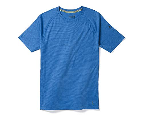 Smartwool Men's Short Sleeve Shirt - Merino 150 Wool Baselayer Pattern Performance Top Bright Cobalt Small