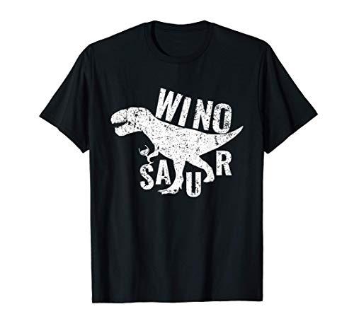 Winosaur Wine Drinking Gift ウィノサウルス ビンテージおかしいワインを飲む恐竜ギフト Tシャツ