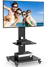 テレビ台 テレビスタンド 壁寄せ 大型TVスタンド 32-65インチ対応 耐荷重50KG 高さ調節可能 キャスター移動式