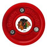 Green Biscuit Training Puck (NHL Themed), GRE-GB-CHI-RD, Chicago Blackhawks