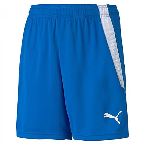 PUMA unisex-child Shorts, Electric Blue Lemonade-Puma White, 128
