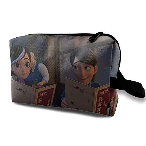 Trolls - Bolsa de maquillaje de viaje con muñequera, bolsa de aseo portátil con cremallera para niñas y mujeres