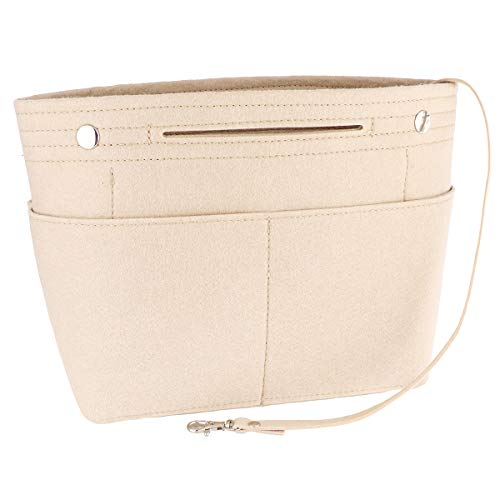 Uoisaiko Taschenorganizer Filz für Damen, Handtaschen Organizer mit Tiefe Tasche, Leicht Bag in Bag für Groß Shopper