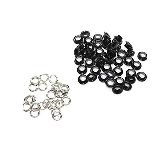 Bruiloft 4mm Glanzende Zwarte Oogjes Grommets met Wasmachines voor Kleding, Leathercrafts, Naaiprojecten, Tassen, Scrapbook, DIY Projects, 100pcs