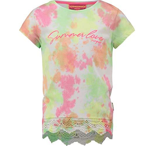 Vingino Girls T-Shirt Heina, Fb. real White Batic (Gr. 10/140)