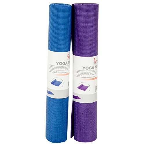 Sunny Health & Fitness Mat In Blue And Purple