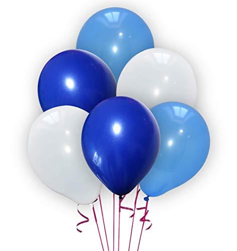 Ballons blancs, bleus et bleu foncé (x30)