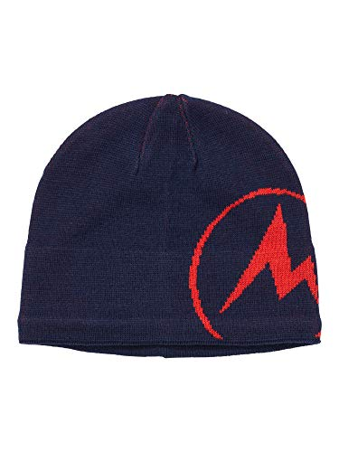 Marmot Summit Hat Warme Woll-Mix Mütze Mit Mikro-Fleece Innenband, Arctic Navy/Victory Red, ONE