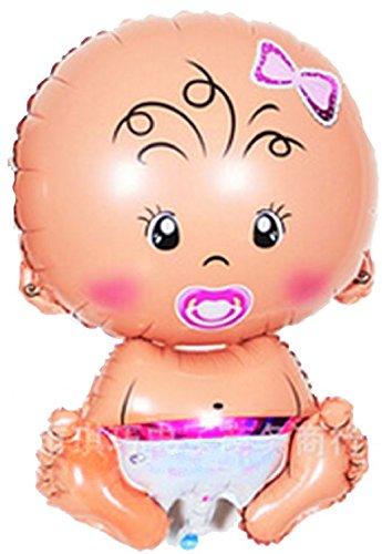 Mondial-fete - Ballon Alu Bébé Fille Rose (71 x 47 cm)