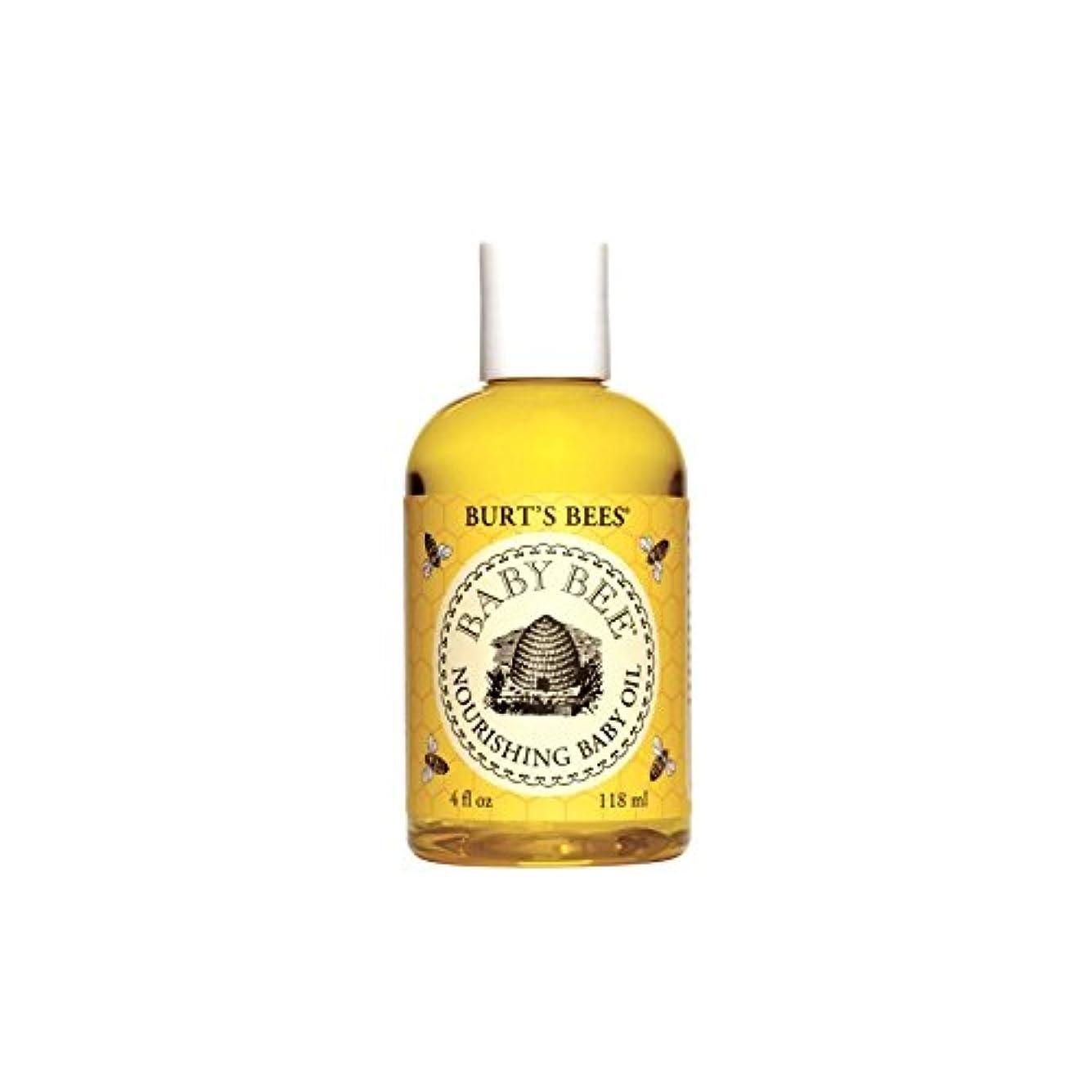 決定ラケット国民Burt's Bees Baby Bee Nourishing Baby Oil (4 fl 0z / 118ml) (Pack of 4) - バーツビー赤ちゃん蜂栄養ベビーオイル(4フロリダ州0 / 118ミリリットル) x4 [並行輸入品]