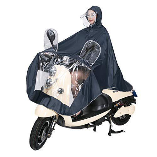 CHGDFQ Poncho Portátil Impermeable Transparente, Aumente el Poncho de Lluvia Más Grueso con Gorra y Manga, Ropa de Lluvia para Adultos Impermeable Montar en el Aire Libre Motocicleta Individual, Mult