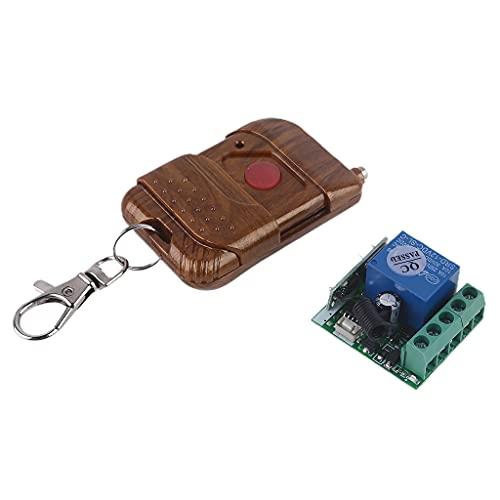 LEXIANG DC 2V 1CH Módulo Receptor de relé Interruptor de Control Remoto Transmisor de RF de un Solo botón Control de Bloqueo electrónico