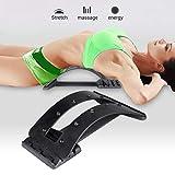 Faviye Back Massager Stretcher Curved Fitness Lumbar Relaxation Support für Schmerzen lindern -