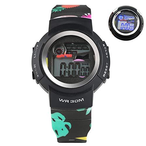 Digital-Armbanduhr für Jungen, wasserfest, mit Kieselgel, elektronisch, Quarz, Militär, LED, elektronisch, für Studenten