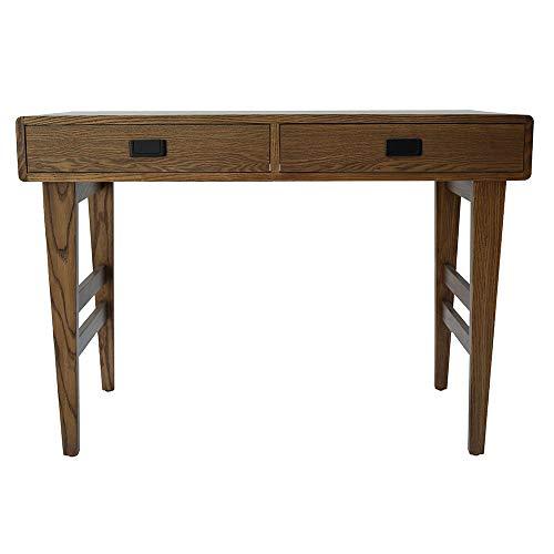 Amazon-Marke – Rivet Schreibtisch im Stil der 1950er Jahre,107 x 51 x 75,5 cm, Warmes, braunes Holz mit Furnier