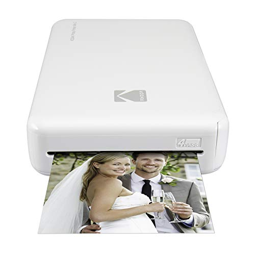 Kodak Mini 2 HD Wireless Mobile Instant Foto Printer, Compatibel met iOS en Android Apparaten, Wit