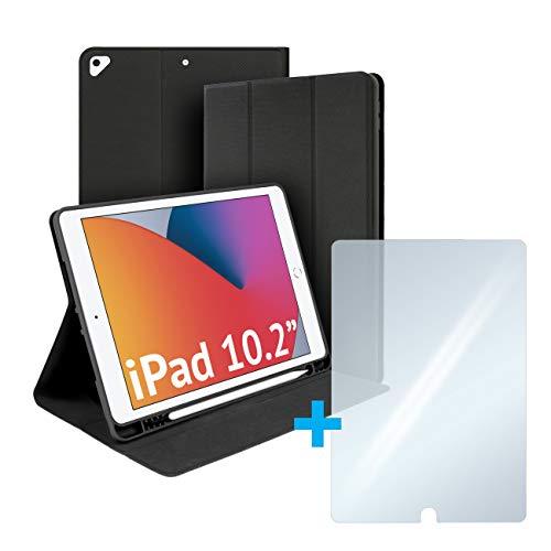 Custodia compatibile con iPad 10.2    iPad Air 10.5  ultrasottile protettiva, Rio case con cover frontale, portapenna integrato, supporto lettura scrittura DAD, smartworking, didattica a distanza