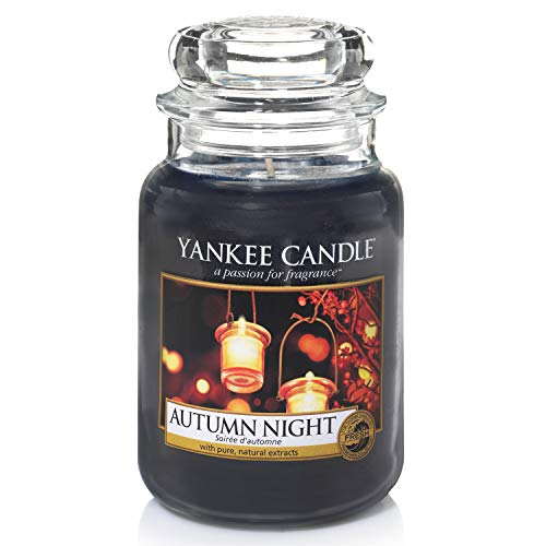 Yankee Candle große Duftkerze im Glas, Autumn Night, Brenndauer bis zu 150Stunden