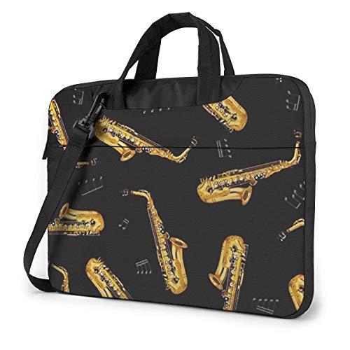 Laptop Bag Satchel Tablet,Saxophone Shoulder Notebook Case Sleeve,Laptop Shoulder Bag For Women & Men For Business Casual or School