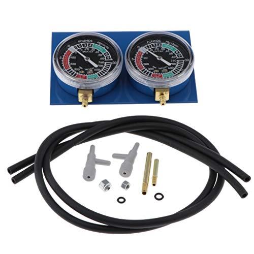 H HILABEE 2 pcs. Vergaser Synchron Testgerät Synchrontester Vakuummeter für 2-Zylinder Motoren