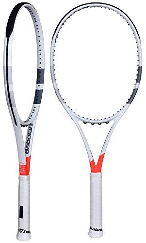 Babolat Pure Strike 100 Unstrung Tennisschläger, Herren, Weiß/Rot, 3