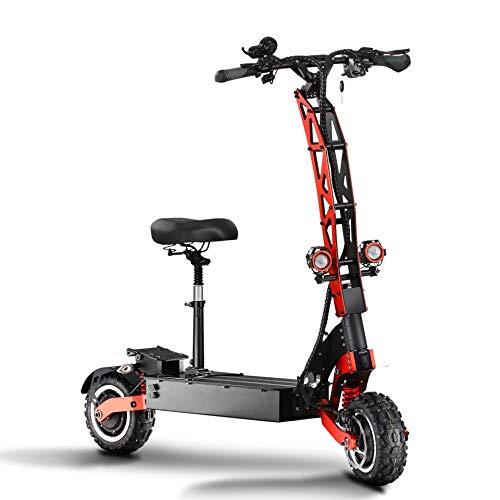 DDZY Scooter eléctrico 5600W de Doble Motor Off Road 11 Pulgadas con la máxima Velocidad 85 kilometros/ha con 60V 38.4AH batería de Litio