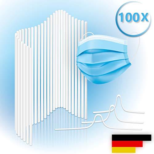 Loveballoons Nasenbügel für Mundschutz Masken • Rostfrei und waschbar • Premium Metallbügel für DIY Mundschutz mit Kunststoffmantel (100)